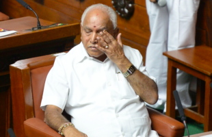 BS Yeddyurappa at the resigns from CM post