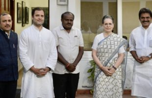Kumaraswamy met Sonia and Rahul