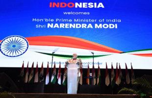 PM addressed Indian Community in Jakarta