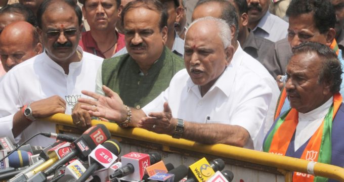 Yeddyurappa elected as BJP Legislative Party leader