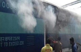 Train gutted fire in Odisha