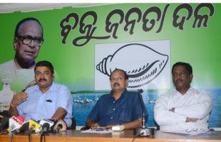 BJD Press Meet on Mahanadi Water Dispute