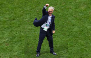 Head coach Didier Deschamps of France during the World Cup