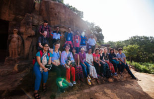 Australian students, blogger and conservation expert join 30th Monks, Caves and Kings walk