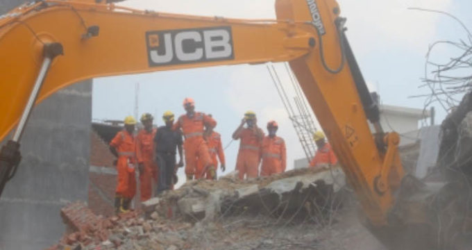 rescue operation building collapse