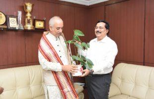 Gajapati Maharaja visits NALCO