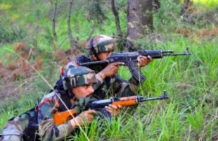 Army Gun Battle at Kashmir