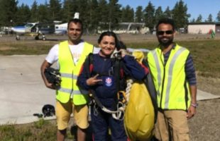 SHEETAL skydives with tricolour to celebrate I-day
