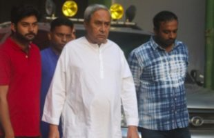 Odisha Chief Minister Naveen Patnaik leaves after paying a visit at AIIMS where Former Prime Minister Atal Bihari Vajpayee is admitted