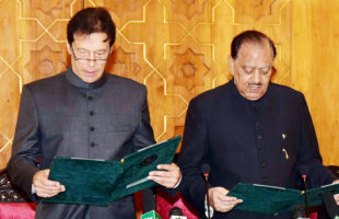 Imran Khan sworn-in as new Pakistani PM