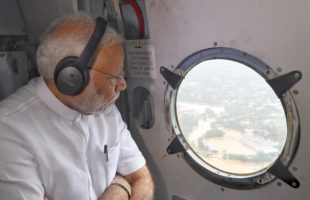 PM visits Kerala, reviews relief and rescue operations
