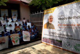 KISS Students Celebrate PM Modi's Birth Day