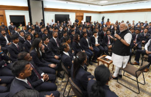 PM's interaction with Medal Winners of 18th Asian Games