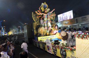 Life of potters, a piece of Jurassic Park mark Kolkata's Durga Puja carnival