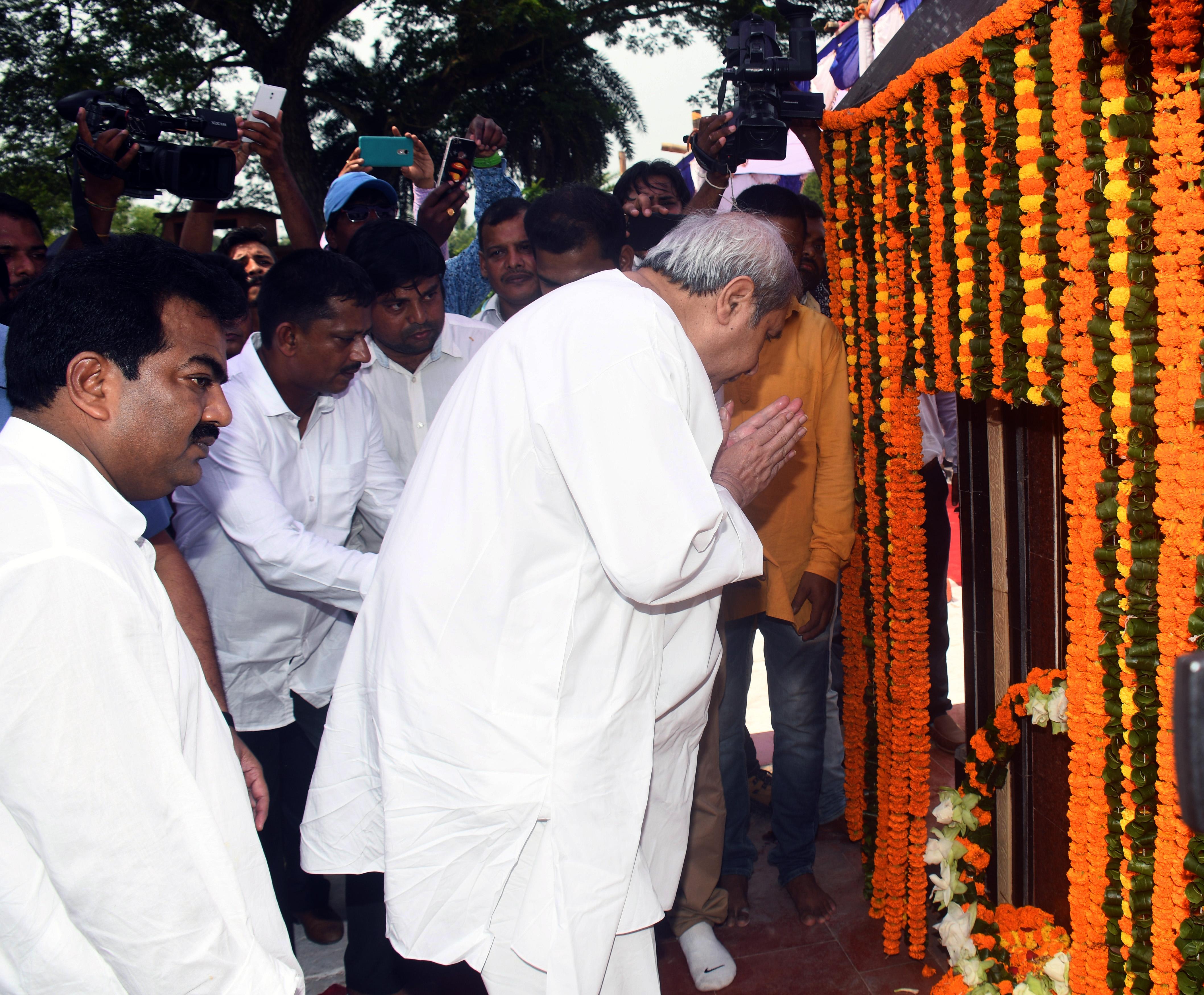 Odisha Chief Minister lays foundation stone of Odiya University
