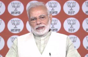 Congress concocting falsehoods in MP: Modi