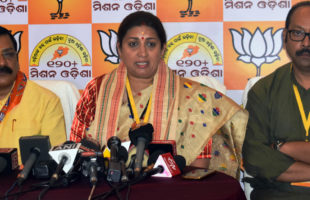 Smriti Irani launched a scathing attack on Naveen and his Government