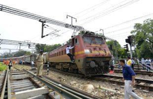 Truck hits Delhi-bound Rajdhani Express, 2 coaches derail