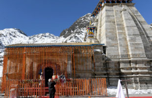 PM offers prayers at Kedarnath Temple; takes an overview of progress of reconstruction projects