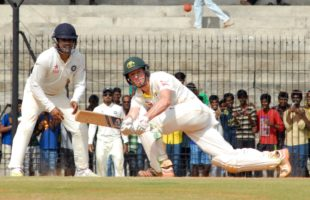 Head half-century helps Australia post 191/7 vs India as wickets tumble