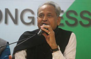 Gehlot assumes charge as Rajasthan CM