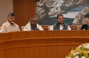 Leaders of 21 parties resolve to work together to defeat BJP