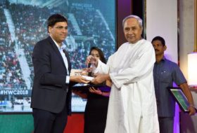 Chief Minister Naveen Patnaik receives 'Best State for Promotion of Sport' Award