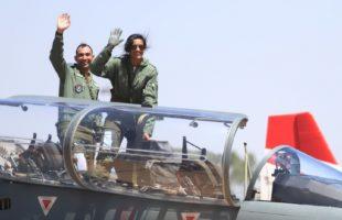 P.V. Sindhu flies in HAL's Tejas in Bengaluru