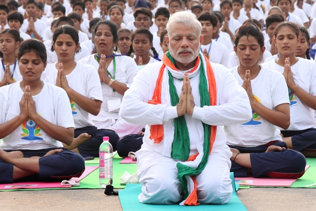 Gearing up for Yoga Day, Modi posts 'Vakrasana' video
